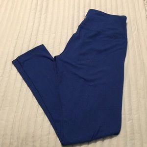 Yogalicious royal blue yoga leggings